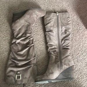 Dr. Scholls knee high wedge boots